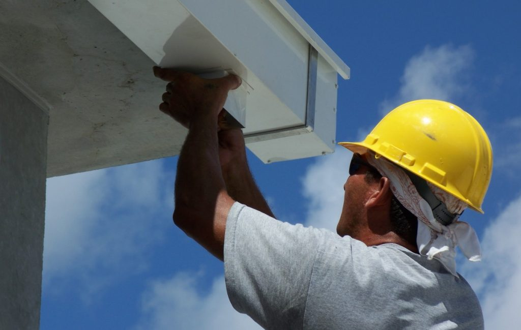 Installing residential gutters