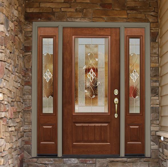 Entry residential door