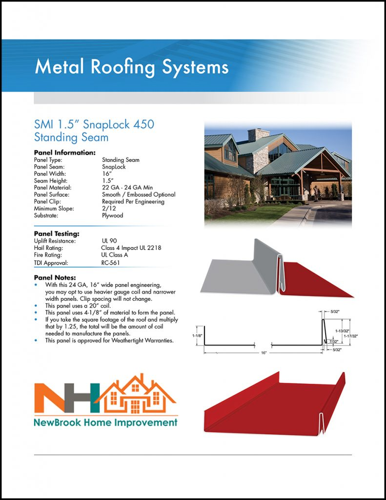 Metal Roofing Systems from NewBrook Home Improvement